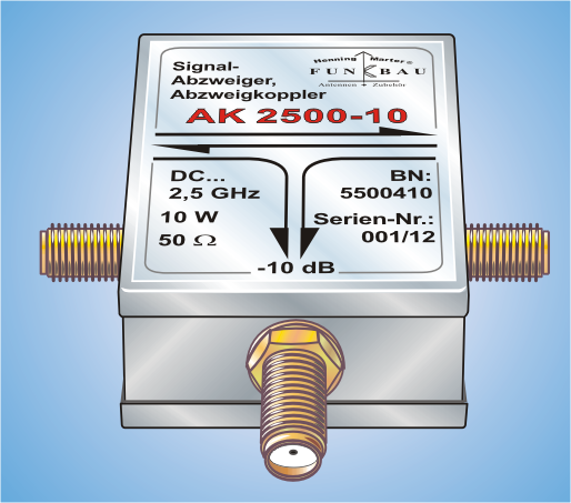 AK 2500-XX, Signal Splitter, Splitting Coupler DC ... 1,0 GHz
