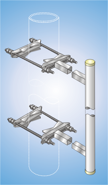 PMA 90-270//250/870, Parallele supports for masts
